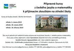 Přípravné kurzy z matematiky a českého jazyka
