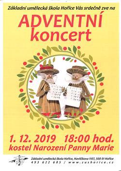 Adventní koncert ZUŠ Hořice